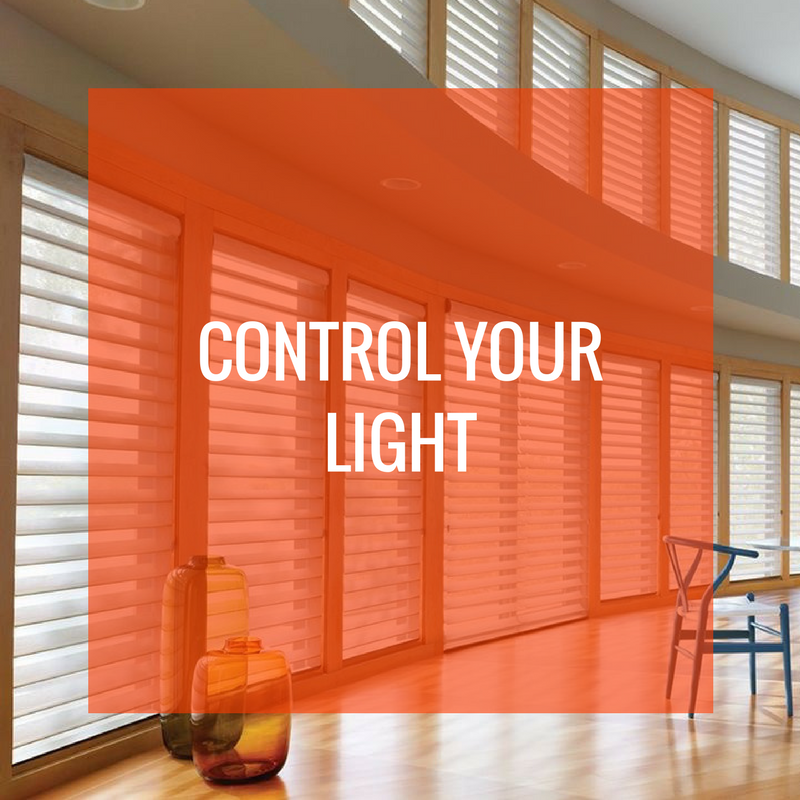 Control your light sheer shades graphic