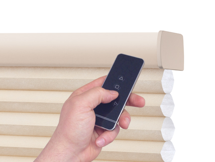 Motorized blinds and remote