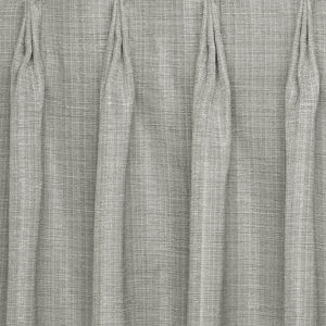 Close-up of drape with european pleat