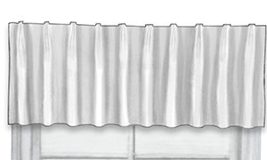 Close-up of valance european pleat top treatment