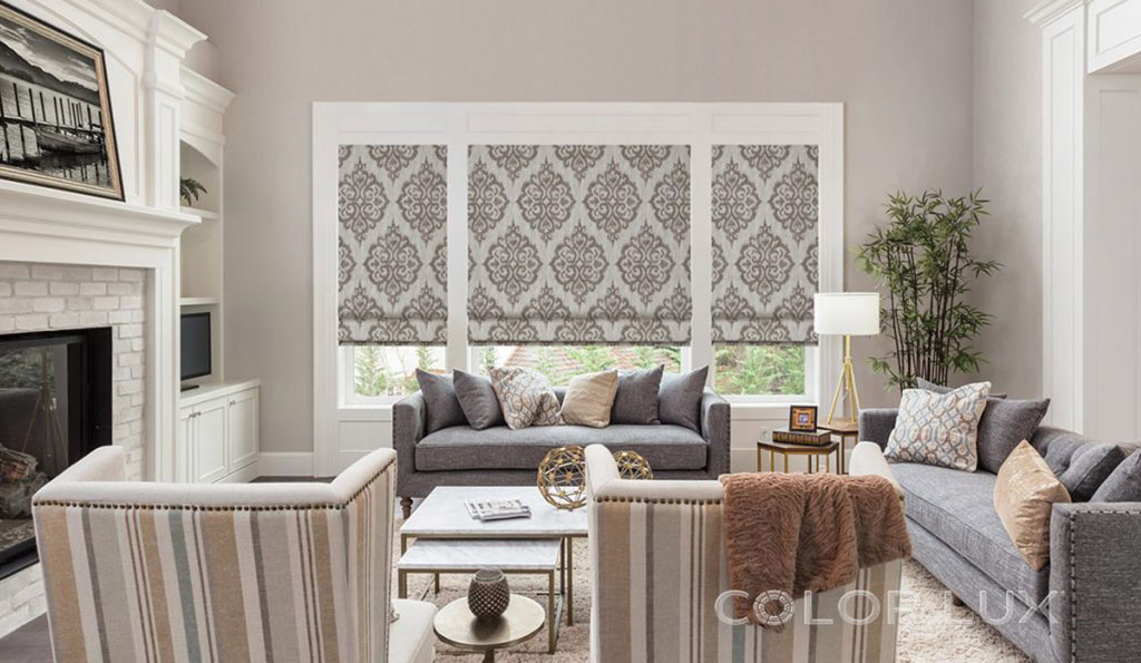 Blinds with diamond design